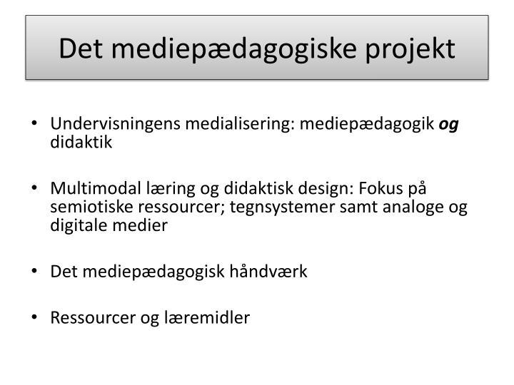 Det mediep dagogiske projekt