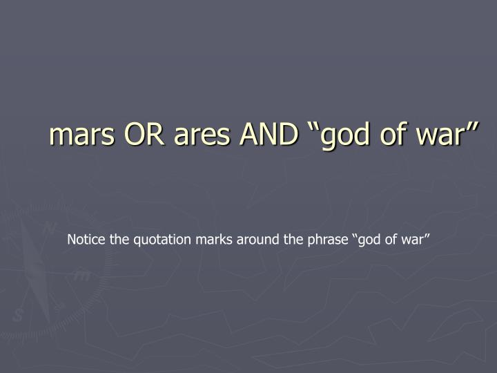 "mars OR ares AND ""god of war"""