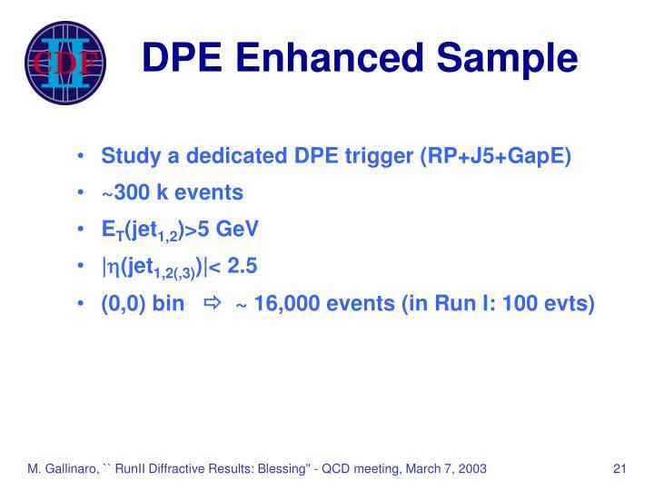 DPE Enhanced Sample