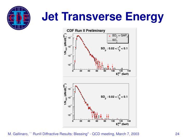 Jet Transverse Energy