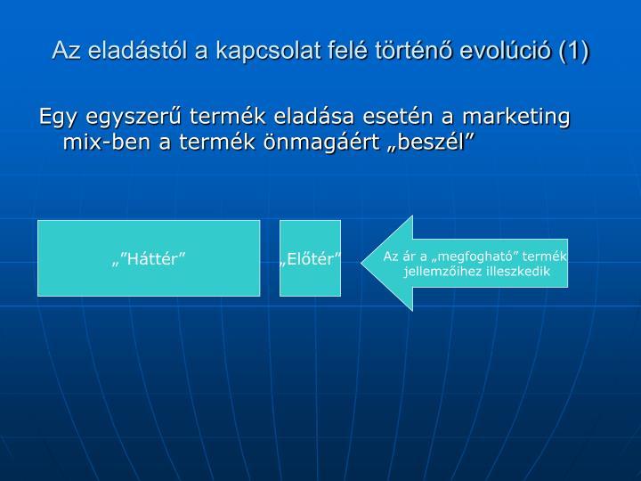 Az eladástól a kapcsolat felé történő evolúció (1)