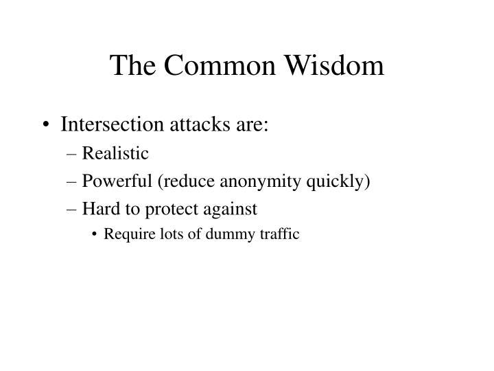 The Common Wisdom