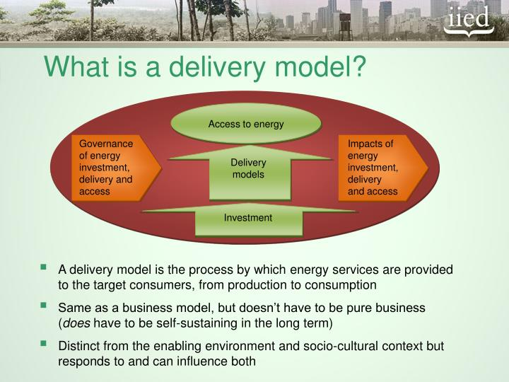 What is a delivery model?