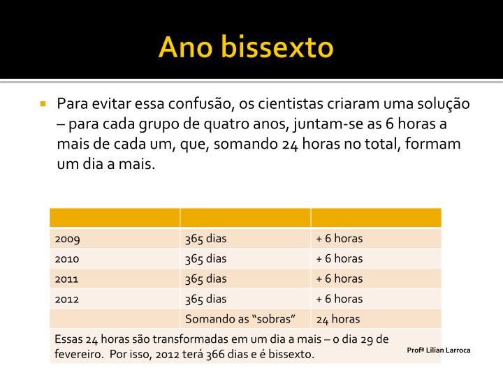 Ano bissexto