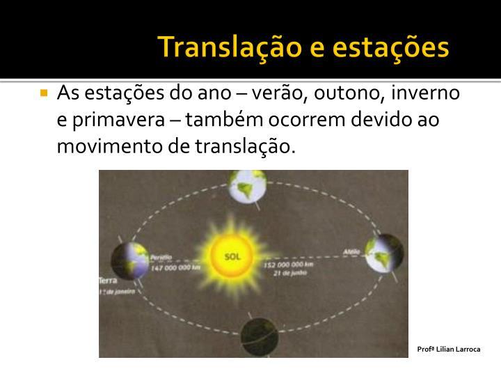 Translação e estações