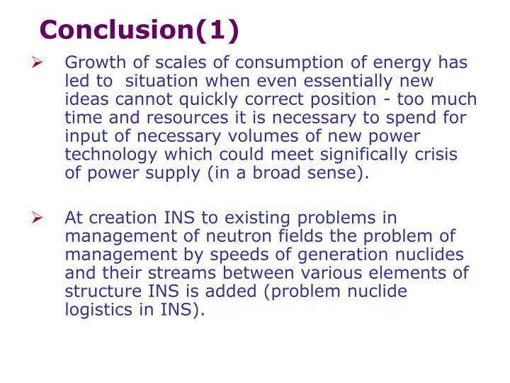 Conclusion(1)