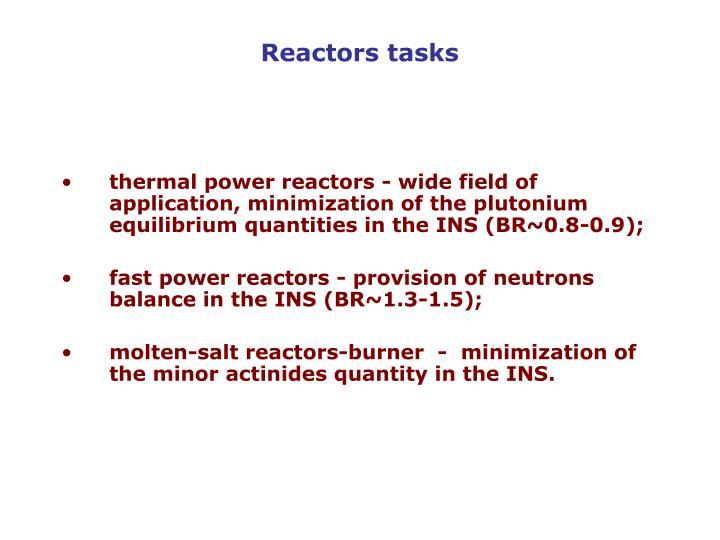 Reactors tasks