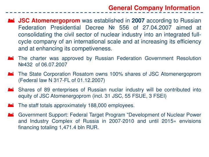 General Company Information