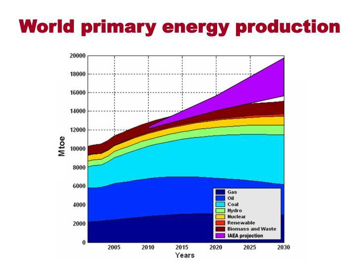 World primary energy production