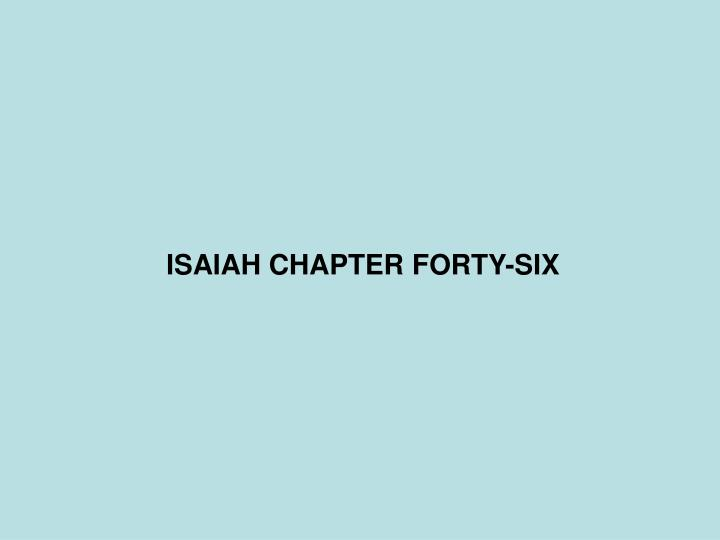 isaiah chapter forty six n.