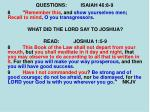 questions isaiah 46 8 92