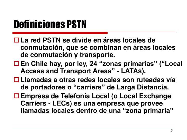 Definiciones PSTN