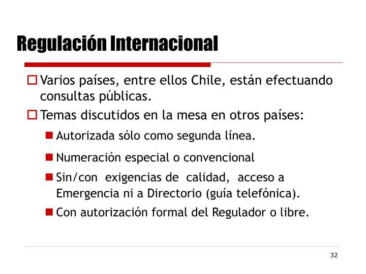 Regulación Internacional