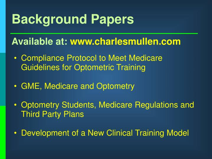 Background Papers