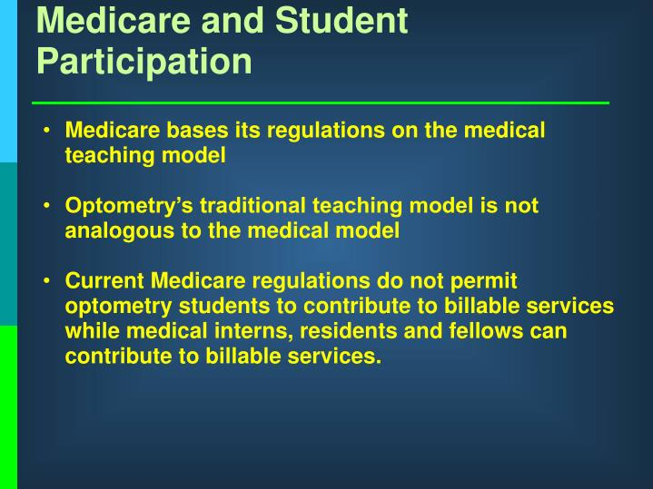 Medicare and Student Participation