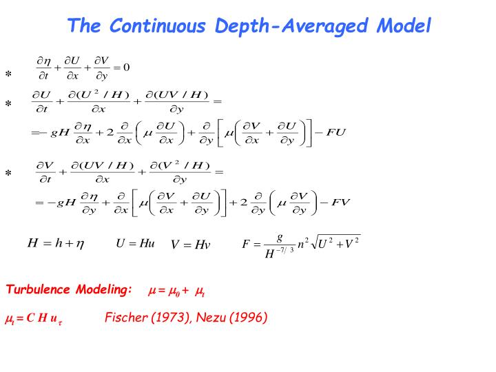 The Continuous Depth-Averaged Model