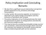 policy implication and concluding remarks