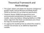 theoretical framework and methodology