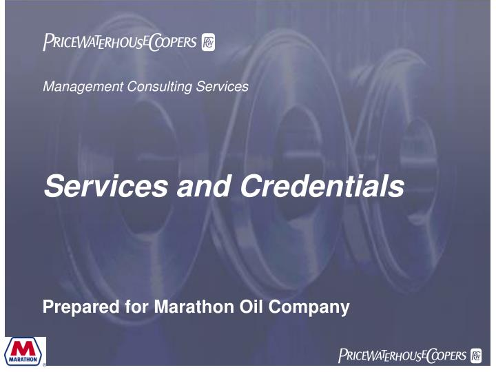management consulting services services and credentials n.
