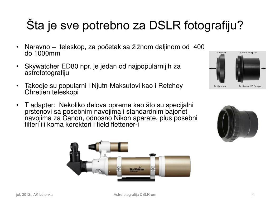 priključite DSLR na teleskop datiranje kroničnih bolesti