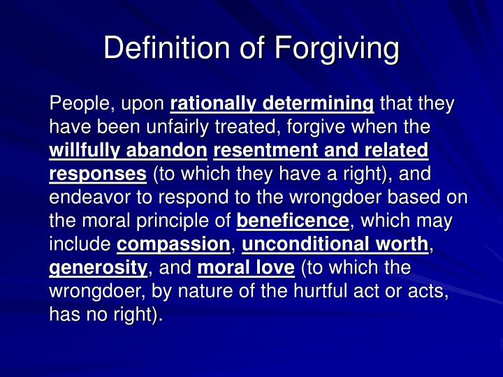 Definition of Forgiving