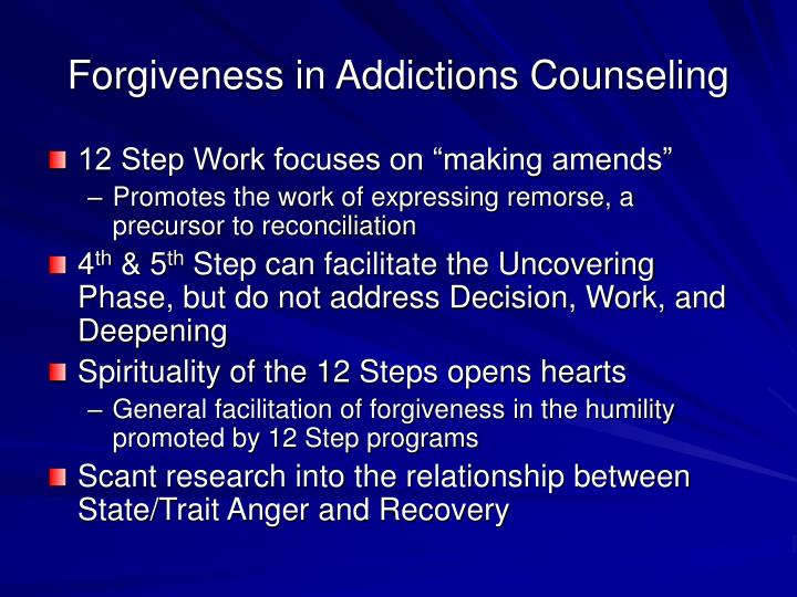 Forgiveness in Addictions Counseling