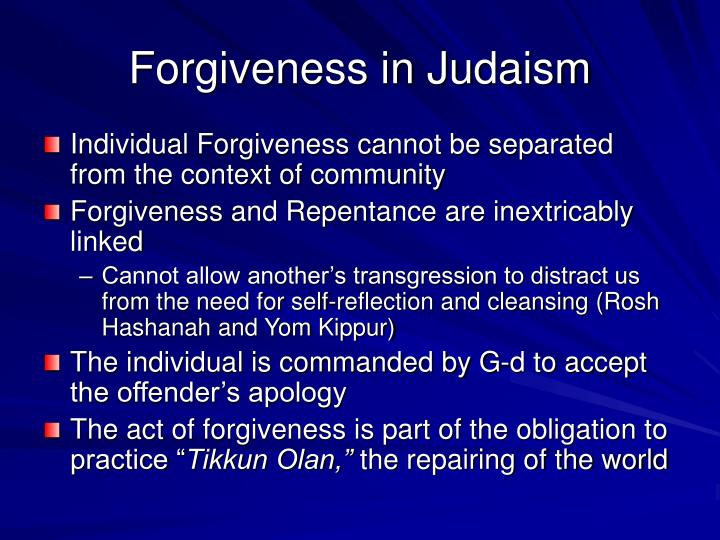 Forgiveness in Judaism