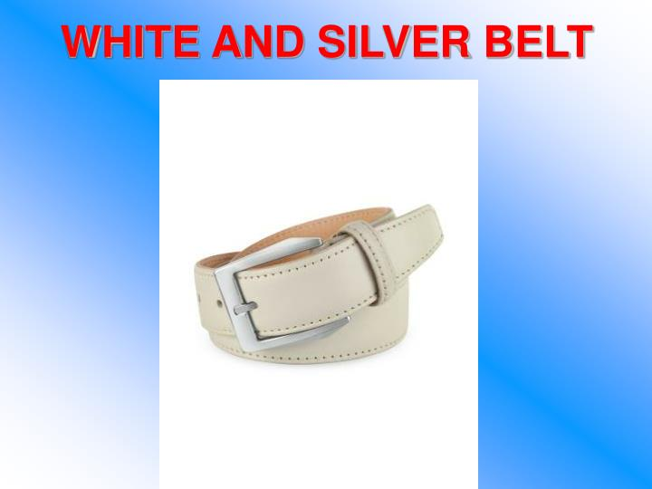 WHITE AND SILVER BELT