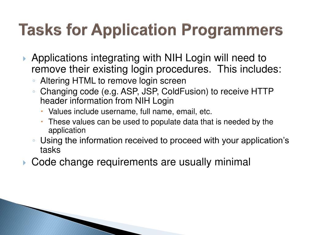PPT - NIH Login PowerPoint Presentation - ID:4419625