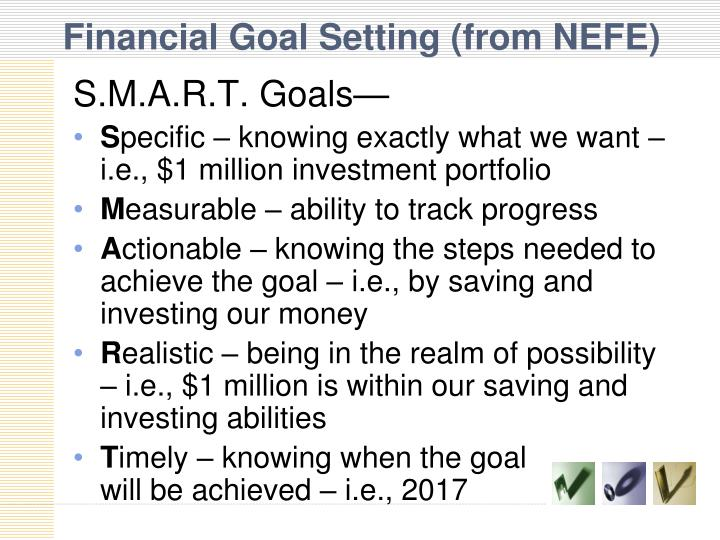 Financial Goal Setting (from NEFE)