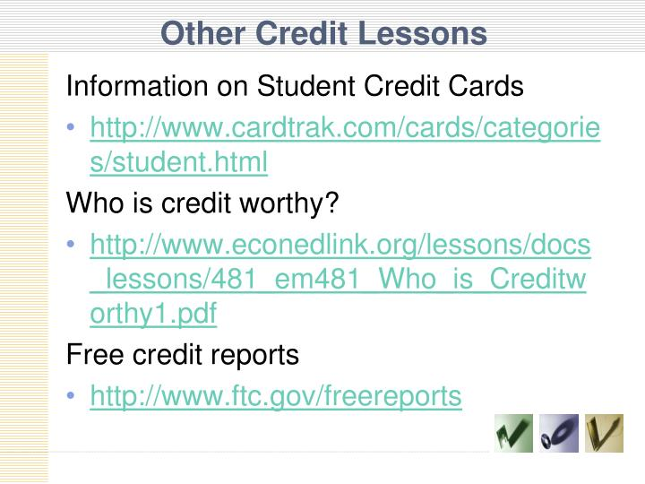 Other Credit Lessons
