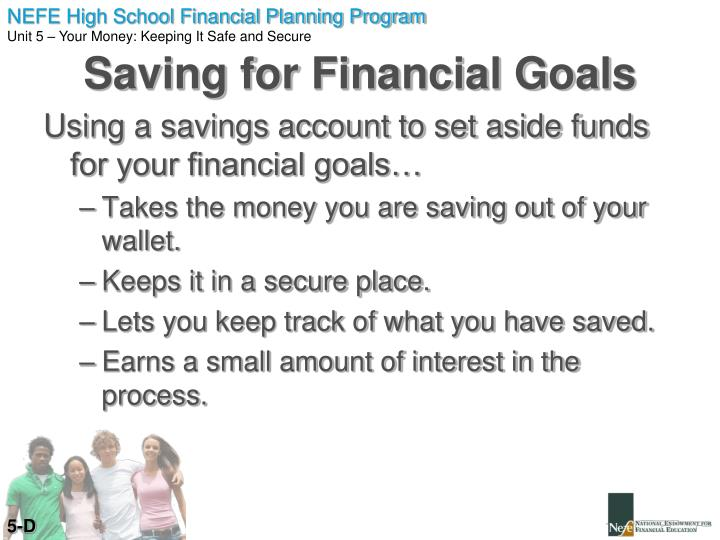 Using a savings account to set aside funds for your financial goals…