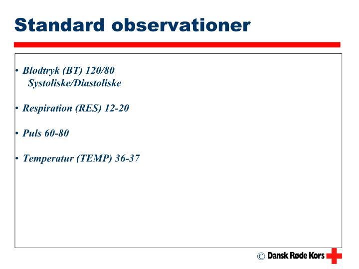 Standard observationer