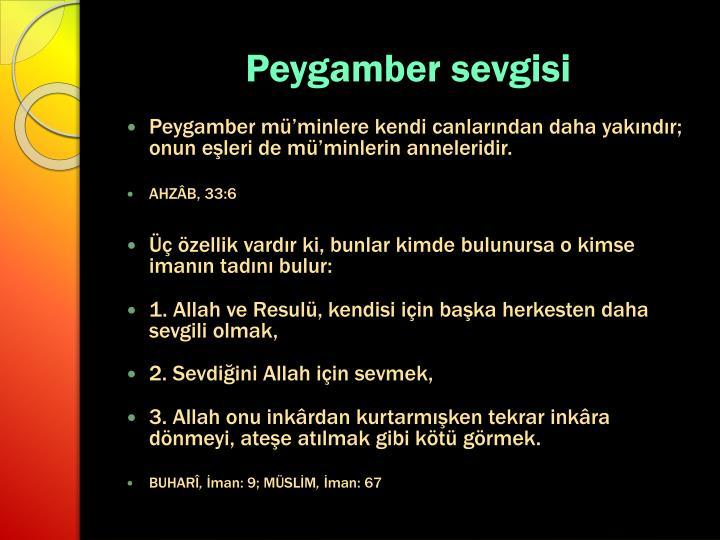 Peygamber sevgisi