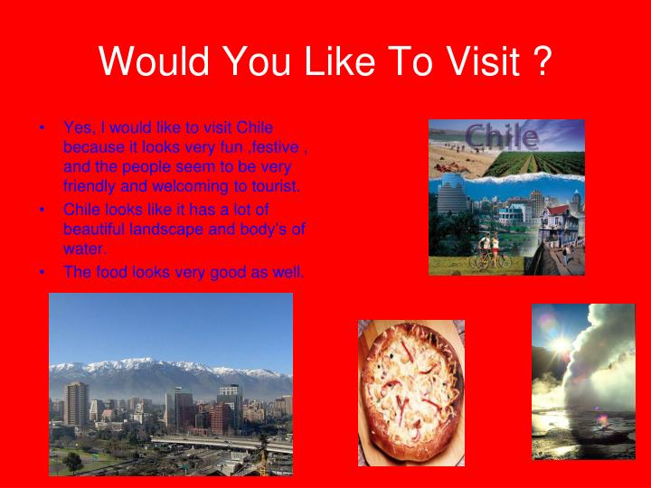 Would You Like To Visit ?