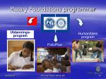 rotary foundations programmer