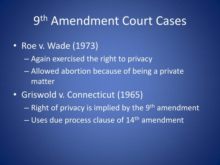 9th Amendment Court Cases