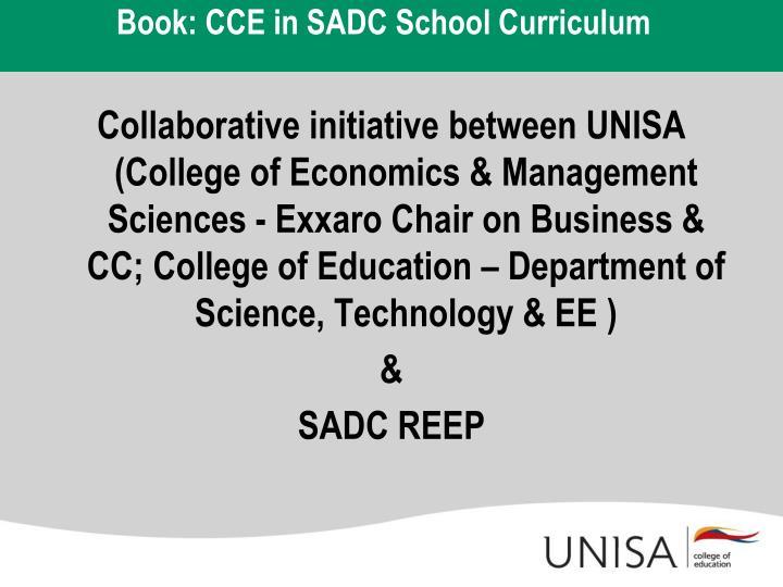 Book cce in sadc school curriculum
