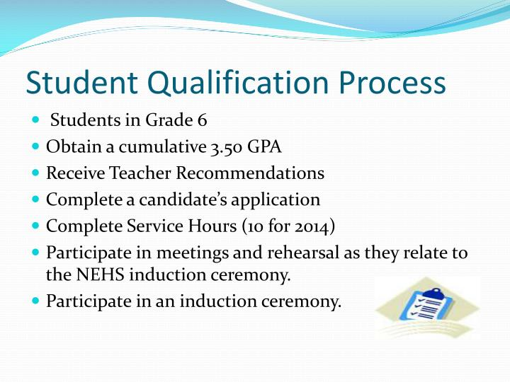 Student Qualification Process