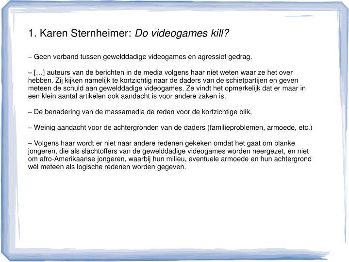 1. Karen Sternheimer: