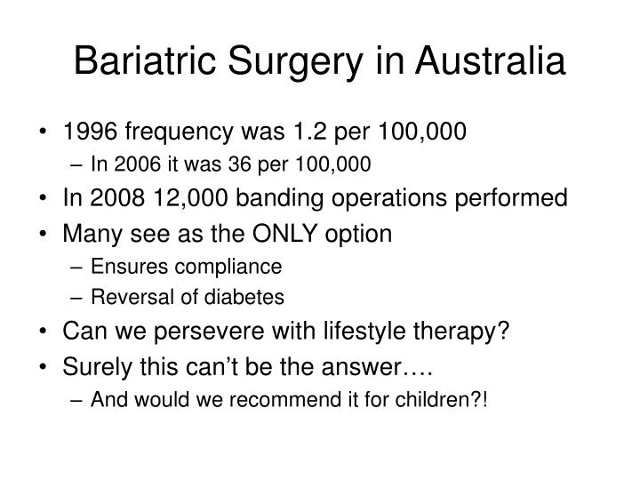 Bariatric Surgery in Australia