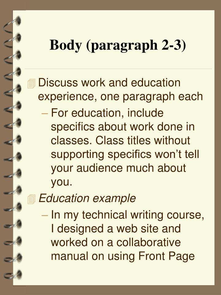 Body (paragraph 2-3)