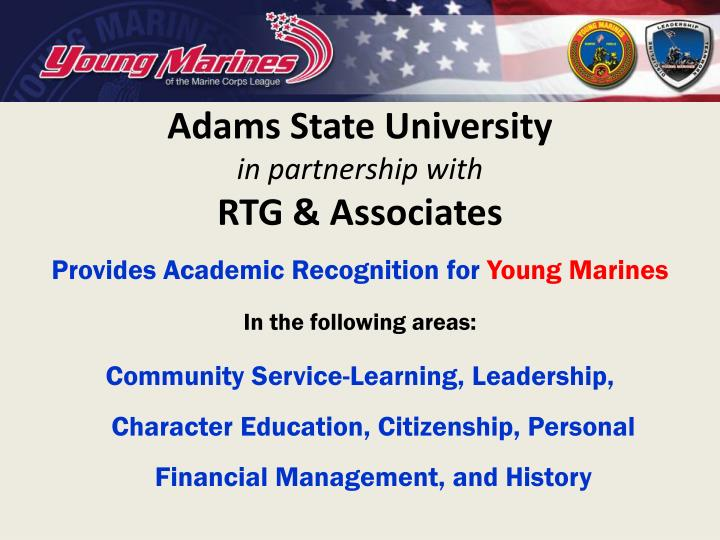 Adams state university in partnership with rtg associates