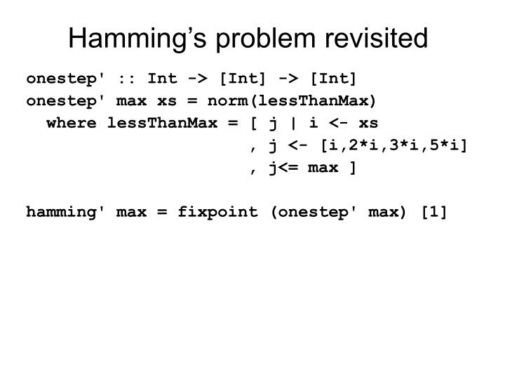 Hamming's problem revisited