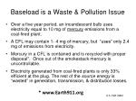 baseload is a waste pollution issue