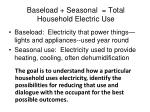baseload seasonal total household electric use
