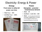 electricity energy power