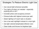 strategies to reduce electric light use