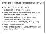strategies to reduce refrigerator energy use