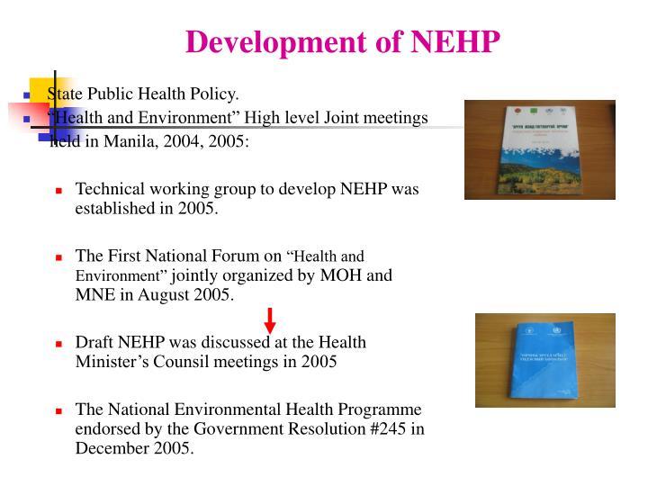 Development of nehp